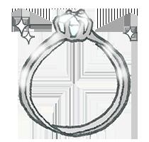 婚約指輪のデザイン-ソリティア