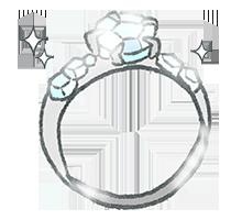 婚約指輪のデザイン-メレ