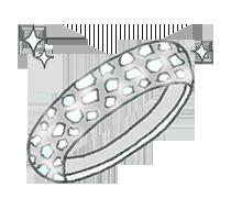 婚約指輪のデザイン-パヴェ