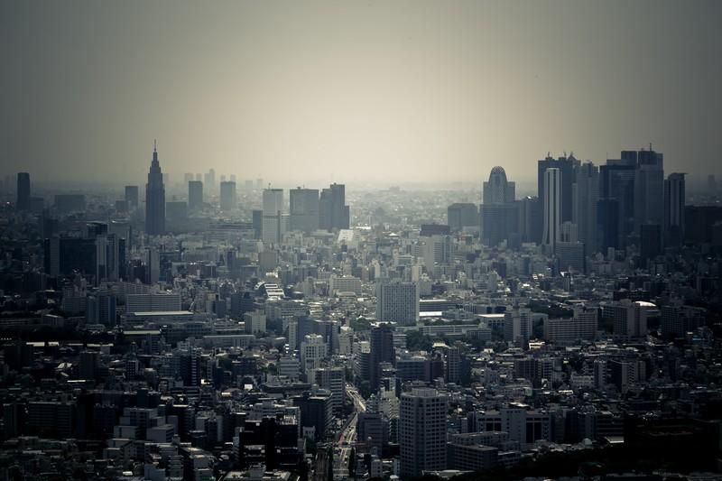 東京上空からの写真