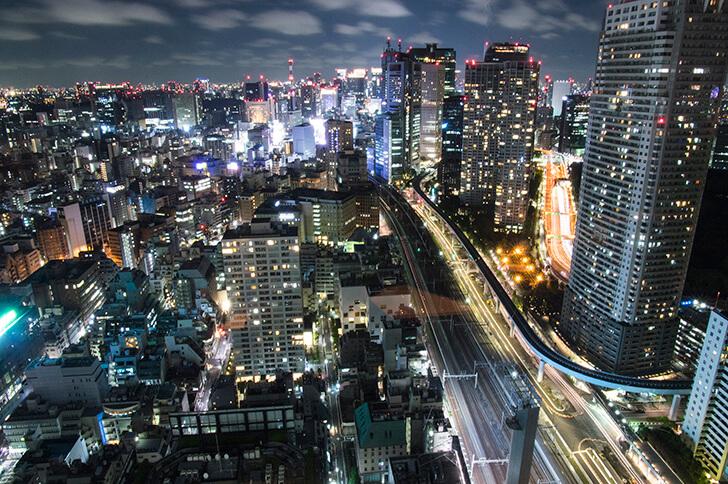 世界貿易センタービルからみた東京の夜景